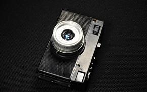 Картинка ретро, чёрный, камера, фотоаппарат, цифровой