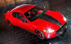 Картинка red, красная, auto, мазерати, Mansory Maserati GranTurismo
