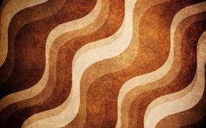 Картинка волны, линии, полосы, текстура, коричневый, бежевый