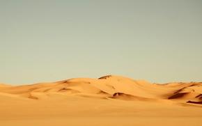 Картинка песок, жёлтый, ветер, пустыня, жара, африка, landscape, nature