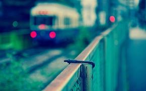 Обои город, фото, поезд, Япония, Токио, боке