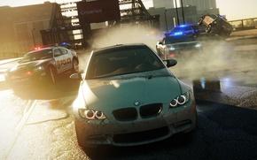 Картинка дорога, полиция, BMW, NFS Most Wanted 2012