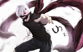 Картинка взгляд, злость, маска, когти, парень, цепи, art, ltt challenger, упырь, tokyo ghoul, kaneki ken, наурчники