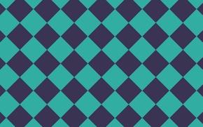 Картинка сиреневый, голубой, текстура, ромбы