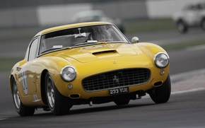 Картинка Ретро, Капот, Ferrari, Фары, 250, Передок