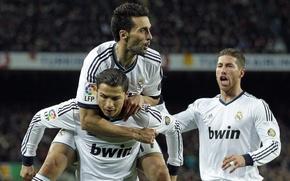 Картинка Real Madrid, C.Ronaldo, A.Arbeloa, S.Ramos, Blancos