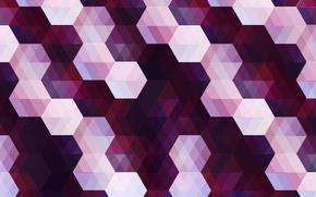 Обои углы, шестиугольник, ромбы