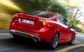 Картинка дорога, авто, скорость, Volvo, S60, R-design