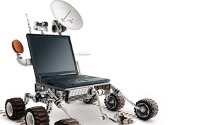 Обои Ноутбук, Вездеход, Белый