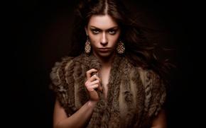 Картинка украшения, портрет, шрам, color, Warrior Carla