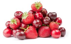 Картинка ягоды, клубника, вишни