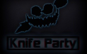Картинка Dubstep, Face, Knife Party, Black Mask