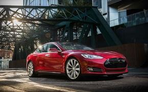 Картинка Tesla, industrial, Model S, 2014
