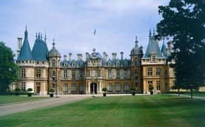 Картинка газон, Англия, дворец, Woodstock, Blenheim Palace