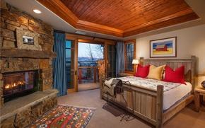 Картинка house, interior, bed, bedroom