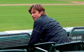 Картинка Brad Pitt, Wallpaper, Man, Moneyball, Movie, Film, Human, Look, Actor, People, Multi-Monitors, Человек который изменил …