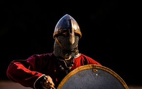 Картинка меч, воин, шлем, щит, викинг