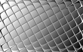 Обои квадраты, блики, серый