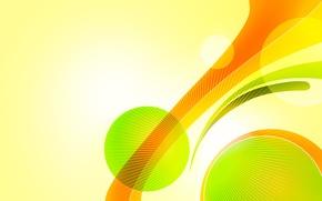 Обои круги, желтый, зеленый, сочно