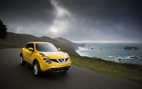 Обои 2015, Желтый, Nissan, фото, Juke, Автомобиль