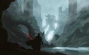 Картинка расщелина, Darth Vader, огромный робот