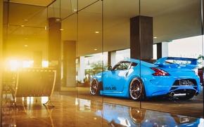 Картинка car, blue, tuning, nissan 370z