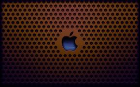 Обои заставка, решетка, apple