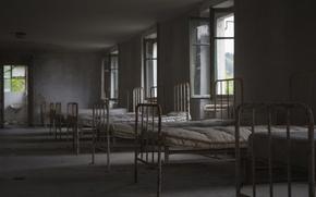 Картинка комната, кровати, палата