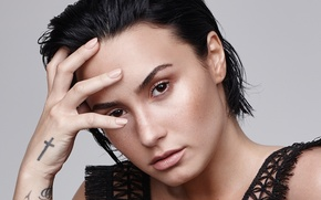 Обои брюнетка, певица, Деми Ловато, Demi Lovato