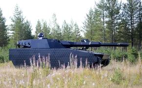Картинка лес, концепт, танк, Швеция, CV90-120