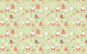 Картинка снеговик, санта, рождество, новый год