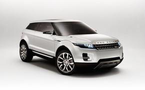 Обои Land Rover, белый, концепт-кар, LRX