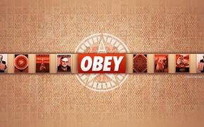 Картинка обои, red, obey