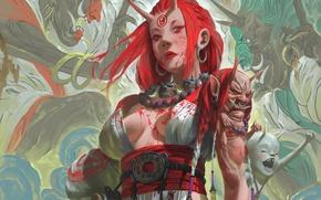 Картинка девушка, кровь, аниме, духи, убийство, арт, убийца, демоны