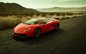 Картинка дорога, красная, ламборгини, галардо, Lamborghini gallardo LP570-4