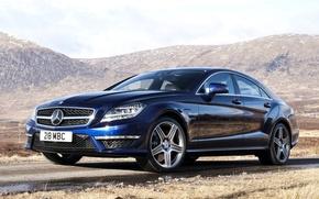 Mercedes-Benz,CLS,63,AMG,Мерседес,ЦЛС,АМГ,передок,горы обои