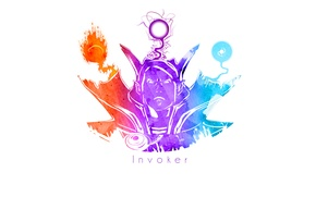 Картинка Valve, Quas, Wex, Exort, Invoke, Invoker, Minimalism, Dota 2