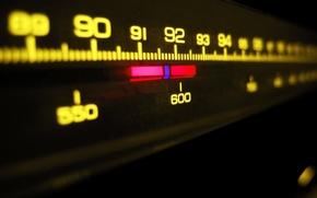 Обои шкала, радио, музыка