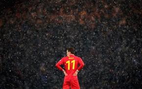 Картинка Англия, Спорт, Дождь, Футбол, Rain, Football, Футболист, Tottenham Hotspur Football Club, Гарет Бейл, Gareth Frank …