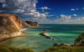 Картинка Англия, Dorset, Durdle Door, Blue Lagoon