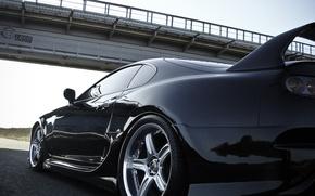 Картинка машина, мост, Toyota, Supra