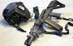 Обои оружие, автомат, шлем, снаряжение., ak102, Haley Strategic