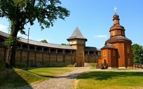 Картинка церковь, Украина, реконструкция, Батуринская цитадель, гетманская резиденция, Батурин