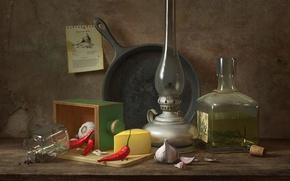 Обои натюрморт, Still life with black pepper, Daniil V. Alikov