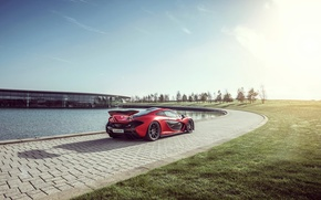 Картинка McLaren, Red, Sun, Supercar, Hypercar, Exotic, Rear, MSO