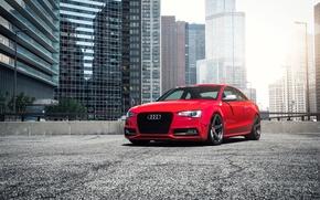 Картинка car, red, Audi B8.5