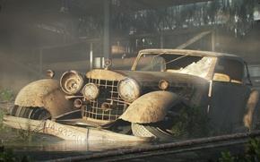 Обои авто, сломанное, старое, 156