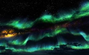 Картинка небо, звезды, ночь, игра, Skyrim, The Elder Scrolls V