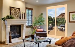 Картинка комната, стиль, интерьер, дом, вилла, терраса, дизайн