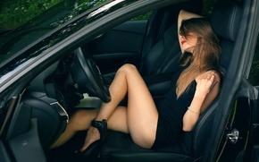 Картинка авто, девушка, ножки, Guenter Stoehr, Vita